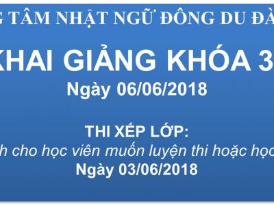 KHAI GIẢNG KHÓA 35 - NGÀY 06/06/2018
